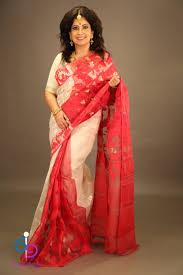 dhakai jamdani dhakai jamdani in gold and pristine white indus loom
