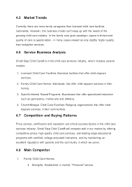 small step child care business plan