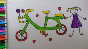 coloring bicycle and drawing for kids drawing for kids youtube
