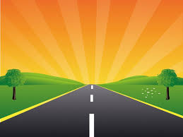 road to the peace for powerpoint template ppt backgrounds nature