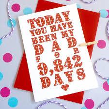 personalised u0027days you u0027ve been my dad daddy u0027 card by ruby wren