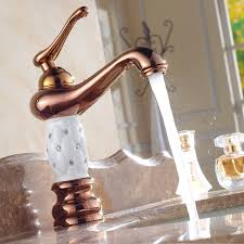 copper faucets kitchen white style faucet gold finish copper bathroom basin