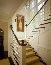 window in stairwell staircase traditional with crown molding drum