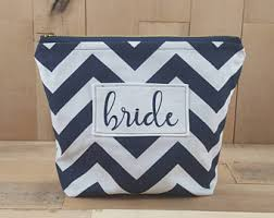 Bridal Party Makeup Bags Navy Makeup Bag Etsy