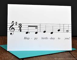 happy birthday to you music note birthday card musician