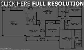 Four Car Garage One Level House Plan 3 Bedrooms 2 Car Garage 44 Ft Wide X 50 D 4