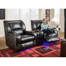 Furniture Wedge by Icon Home Theater 2 Power Recliners U0026 Wedge Black 2148p