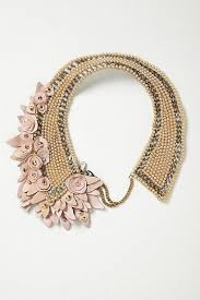 pink flower collar necklace images Collar necklace decorated with pink paper flowers 2039796 weddbook jpg