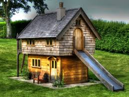 shed playhouse plans house plan top fairy rustic outdoor playhouse with slide design