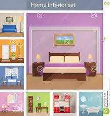 home interiors vector set stock vector image 77662520