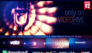 videohive light logo reveal free after effects template free