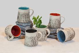 Handmade Tea Cups - special offer of 12 handmade mug set large coffee mug