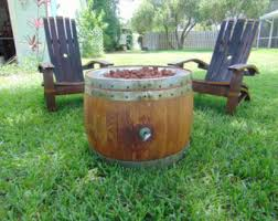 Wine Barrel Fire Pit Table by Wine Barrel Coffee Table Fire Pit With Cork And Epoxy Top