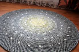 Round Wool Rugs Cute Spotted Round Rug Hand Crocheted From A Quality Wool 50
