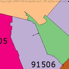 map of burbank ca burbank california zip code boundary map ca