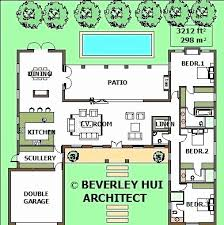 house plans with pools u shaped house plans with pool in middle unique house plan pool
