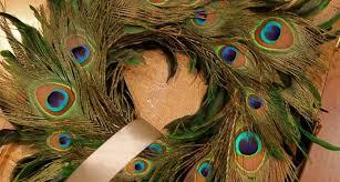 peacock feather wreath decoration ideas dma
