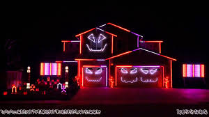 halloween light display projector halloween light show 2015 ghostbusters ray parker jr youtube