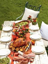 oh to live in a climate where an alfresco thanksgiving is