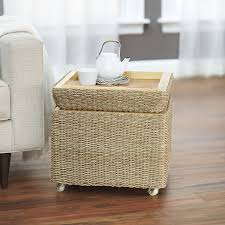 amazon com household essentials rolling seagrass wicker storage