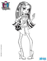 frankie stein long hair coloring pages hellokids com