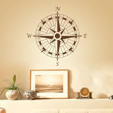 nautical compass wall decal office vinyl wall sticker art graphic