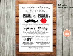 printable couples shower lips u0026 stache invitation mustache and