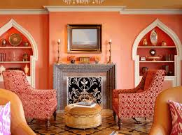 moroccan decor living room display wall shelves and cabinet as