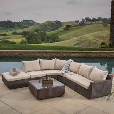 Wicker Sectional Patio Furniture - decorating awesome outdoor wicker sectional sofa with white
