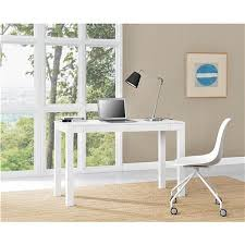 Large White Desk With Drawers Ameriwood Furniture Large Parsons Desk With 2 Drawers White