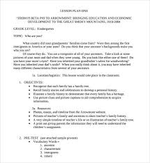 sample kindergarten lesson plan template 7 free documents in