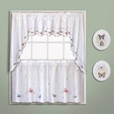 butterfly embroidered kitchen u0026 tiers curtain united curtain