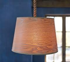 Wood Veneer Pendant Light Wood Veneer Drum Pendant Pottery Barn