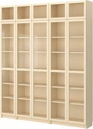 Bookcases Galore Wood Bookcase With Glass Doors Foter