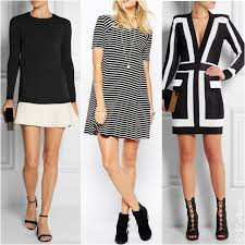 what color shoes to wear with black and white dress white dress