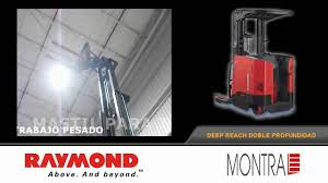 montacargas raymond forklift deep reach doble profundidad de