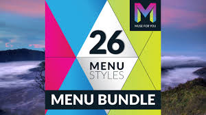 26 menu styles widget adobe muse cc muse for you youtube