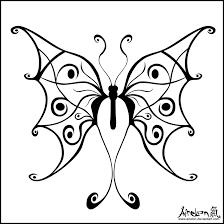 tribal butterfly tattoo black by airelon on deviantart