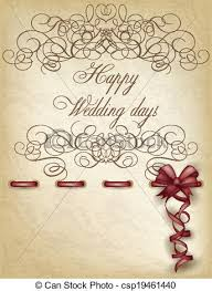 happy wedding day happy wedding day paper vector illustration eps vector