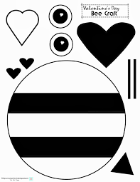 bee craft template