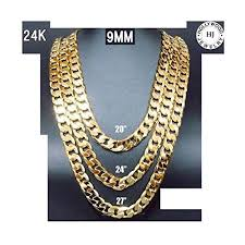 mens cuban link necklace images Mens solid gold cuban link chain necklace jpg