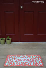 How To Spray Paint Rubber My Pretty Custom Welcome Mat Makeover With Spray Paint