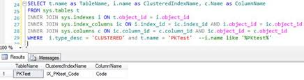 sql server create table primary key create clustered index for other than primary key column in sql server