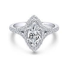 marquise halo engagement ring verbena 14k white gold marquise halo engagement ring er12649m4w44jj