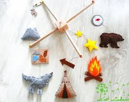 camping baby mobile etsy