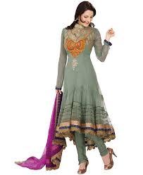 buy fascinating pale mint green anarkali salwar kameez asi024466