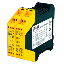 safety relay for light curtain din rail ad srm reer