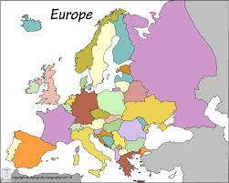 European Countries Map Outline Base Maps