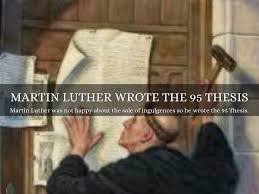 thesis of martin luther the protestant reformation by aidan downey pope leo started selling indulgences