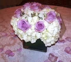 White Hydrangea Centerpiece by Hydrangea And Roses Wedding Centerpieces Centerpiece Purple Rose